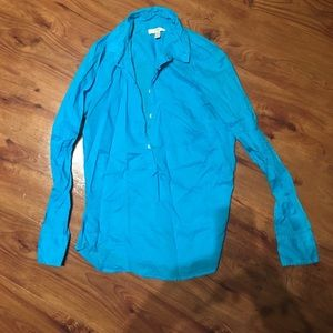 J Crew Teal blouse size 2